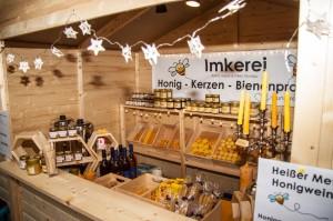 Unser schöne Verkaufstand am Tetzelstein im Elm.