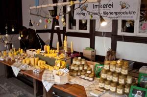 Unser Stand beim Frühlingsmarkt in der Waldgaststätte Tetzelstein im Elm.
